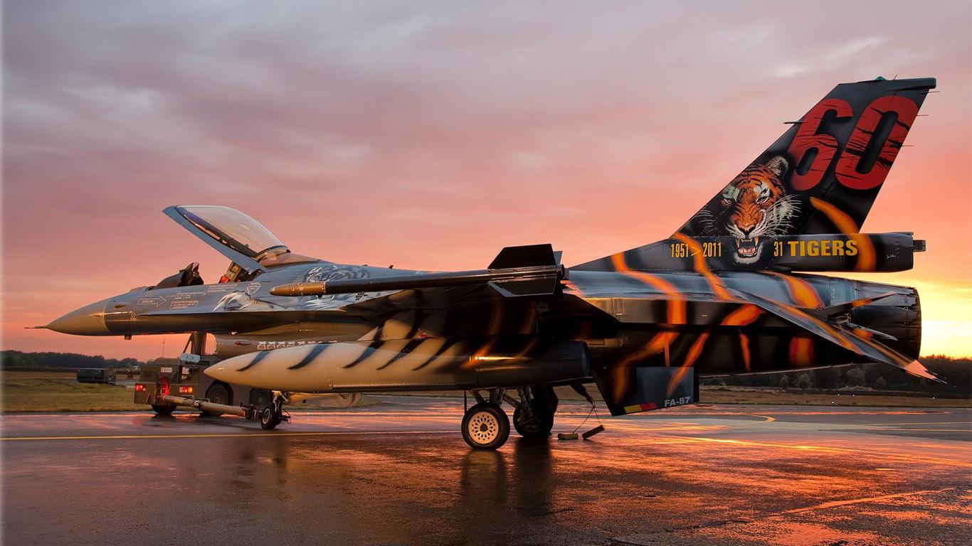 Обои Самолёт, F16. Авиация foto 16