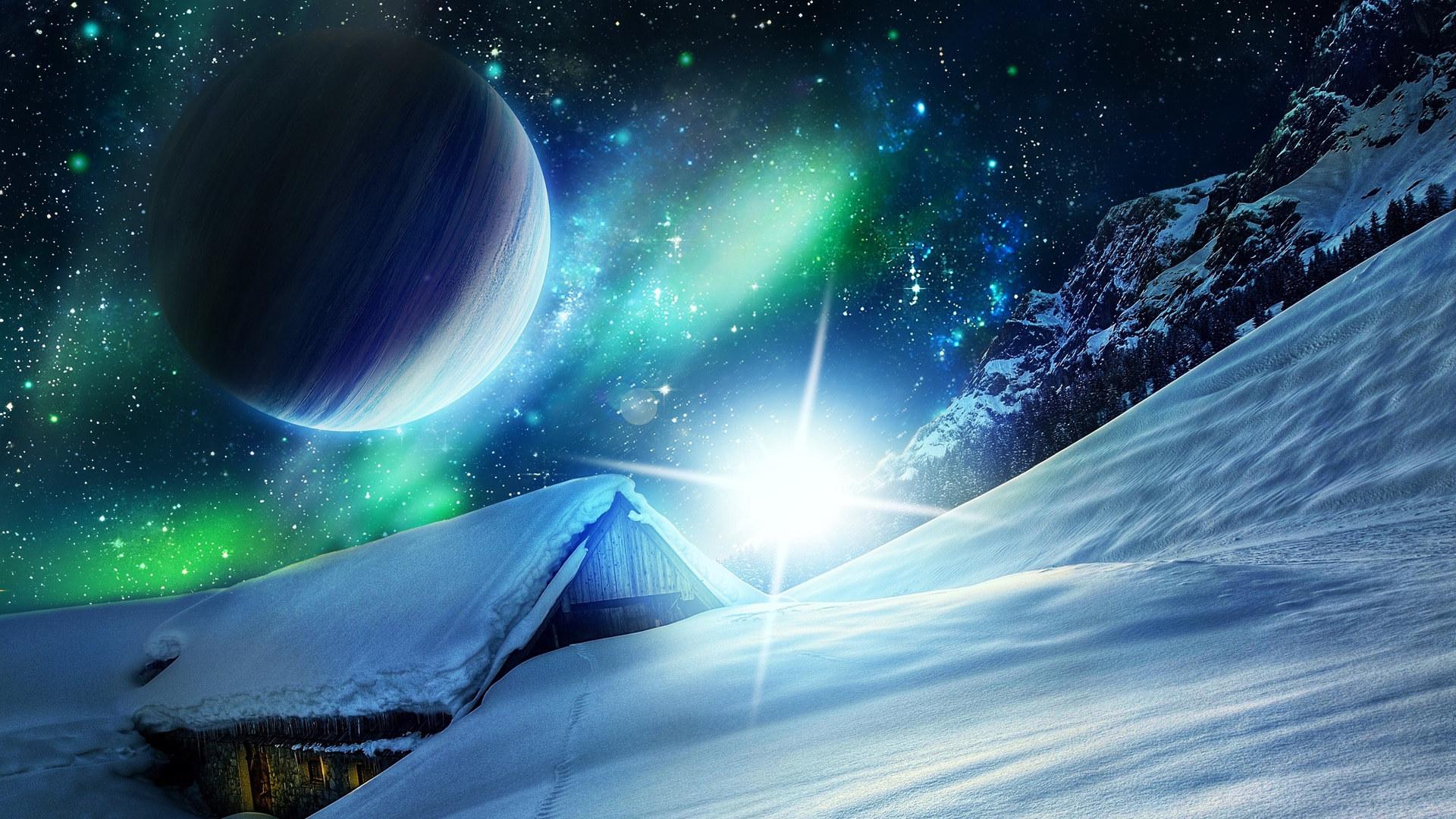 Обои луна, земля, космонавт, астронавт, космос, carlsberg, пиво.