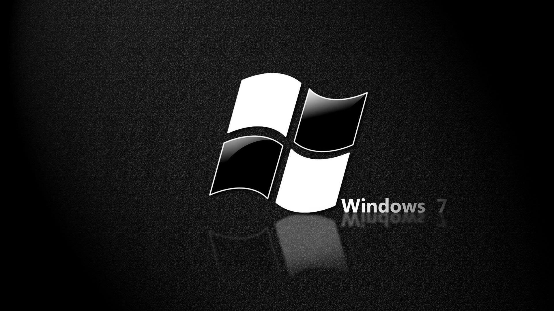 Обои windows 7, зеленый, логотип, минимализм, полоски, свет.