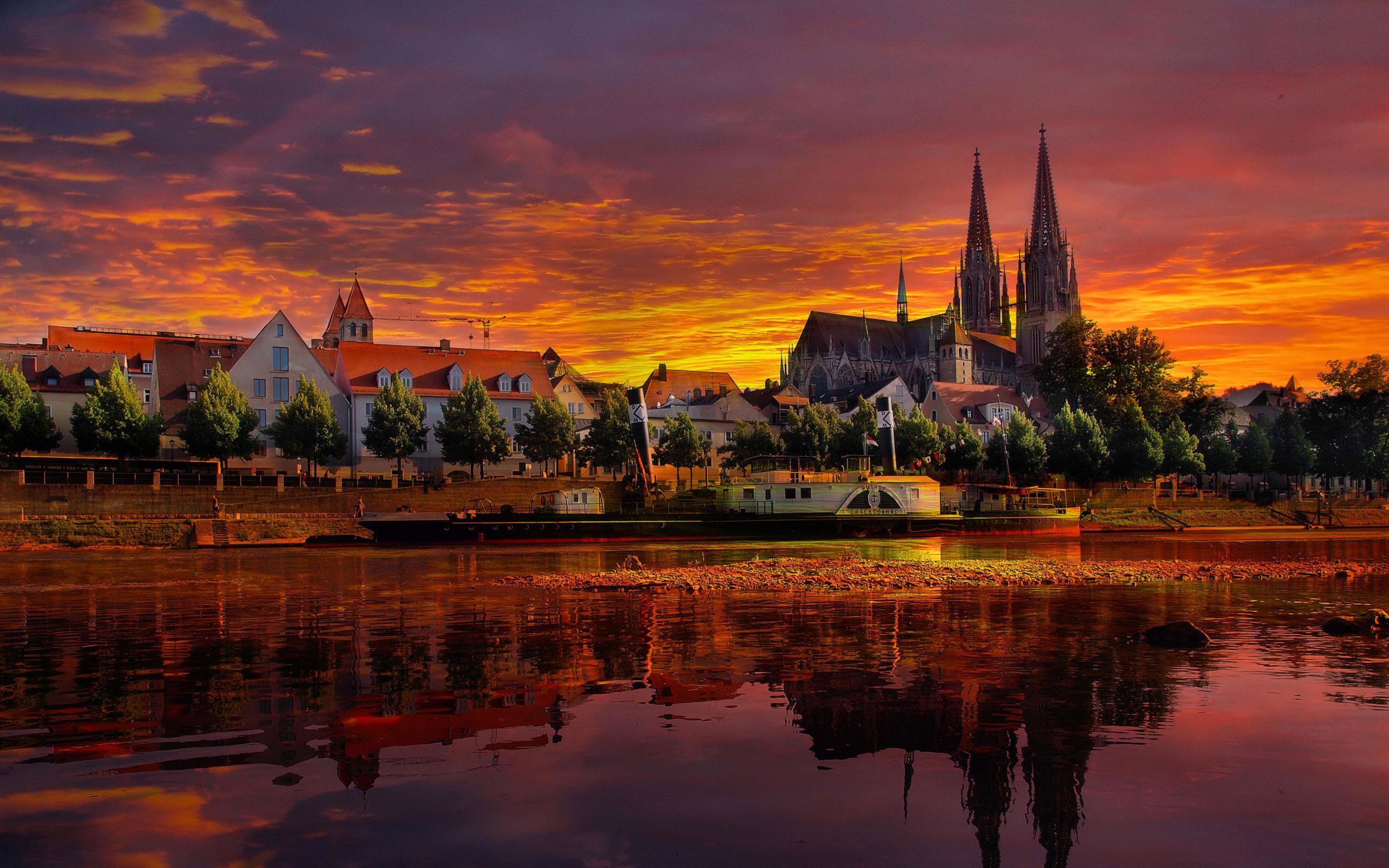 Обои красиво, лето, германия. Города foto 11