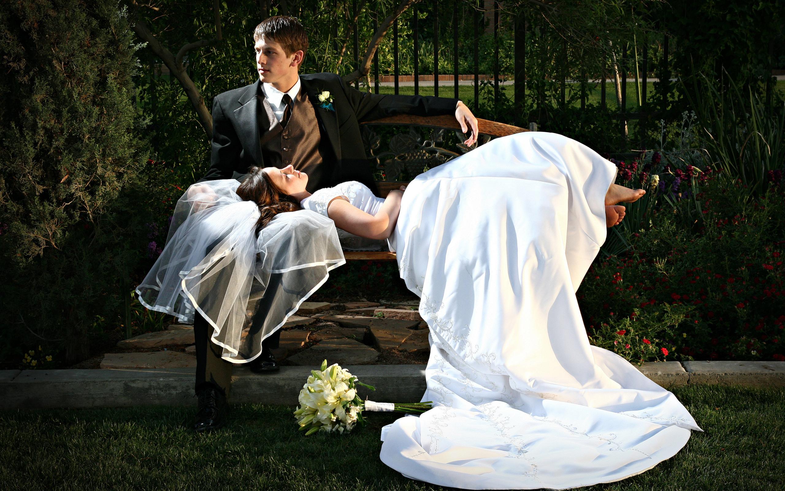 Обои жених, свадебный, цветы. Праздники foto 13